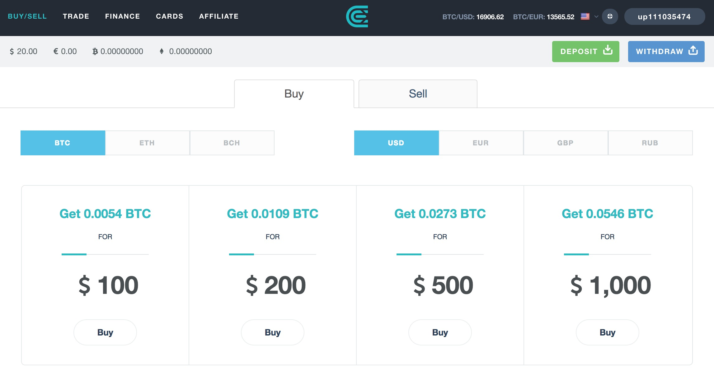 buy bitcoin through credit card - cex.io